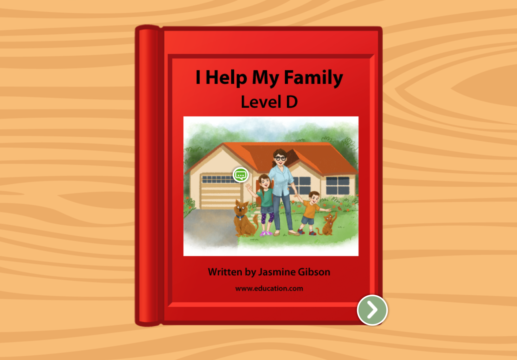 Kindergarten Reading & Writing Stories: I Help My Family: Level D