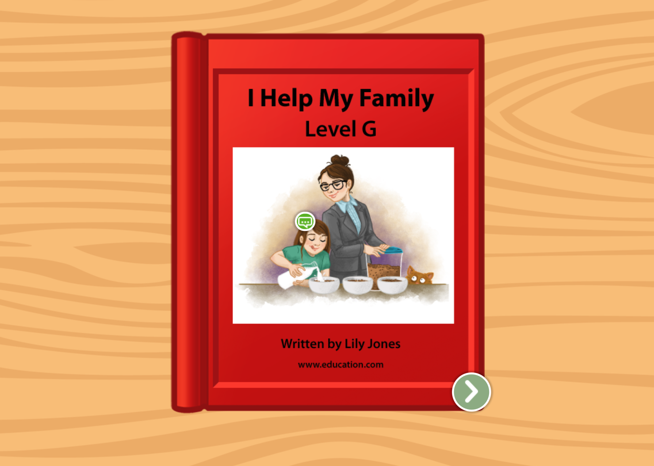 1st grade Reading & Writing Stories: I Help My Family: Level G