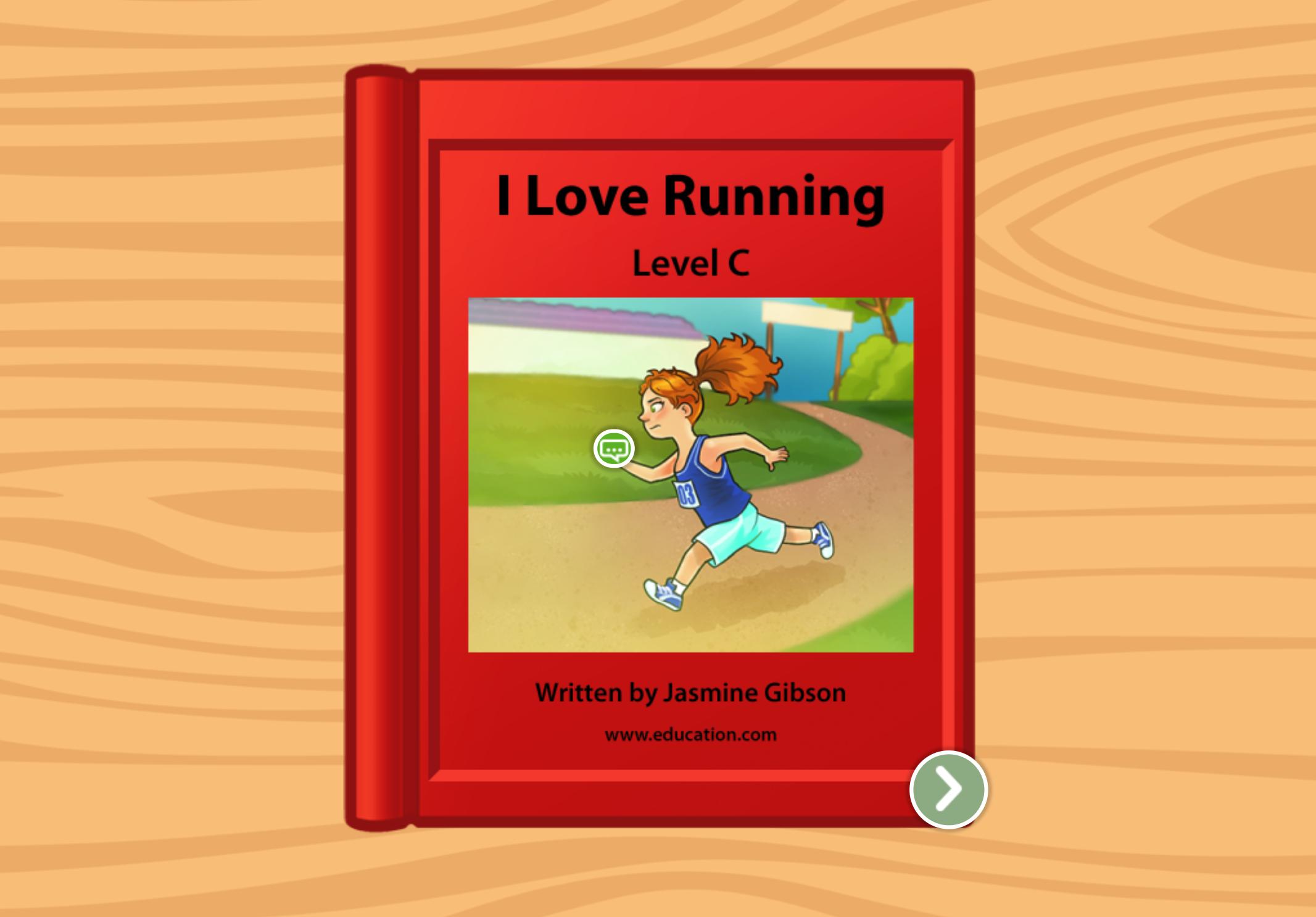 kindergarten Reading & Writing Stories: I Love Running: Level C
