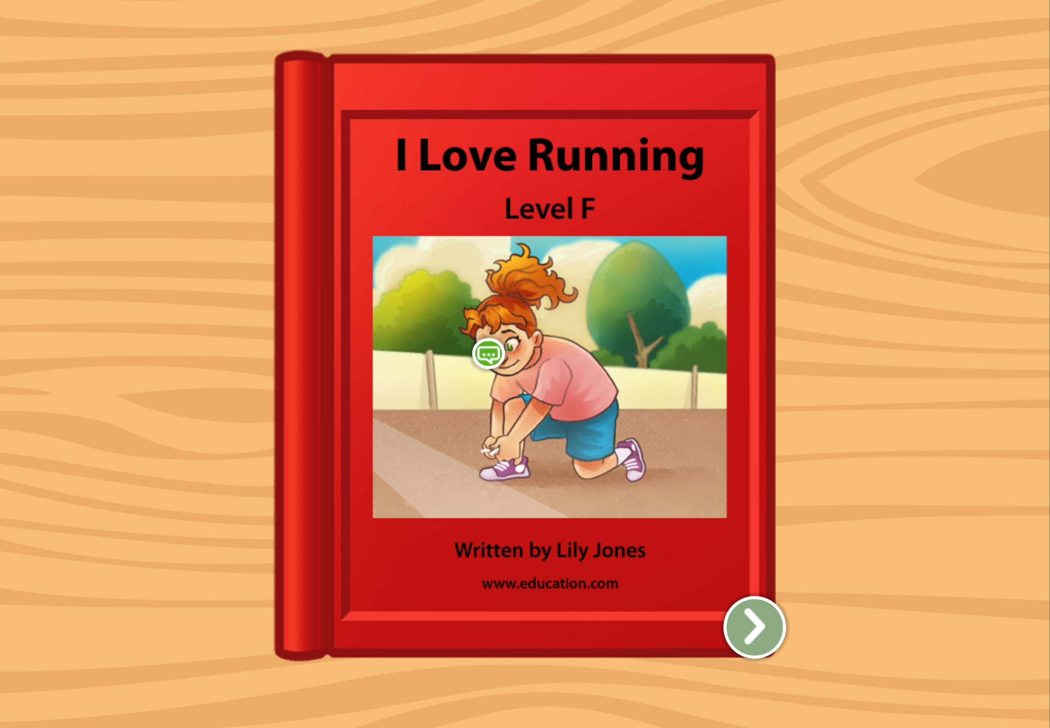 1st grade Reading & Writing Stories: I Love Running: Level F