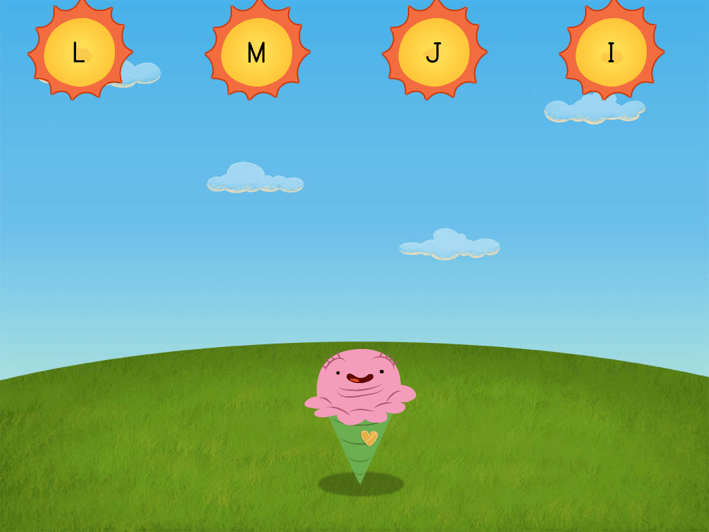 Preschool Reading & Writing Games: Ice Cream Attack: Letters M, I, L, and J