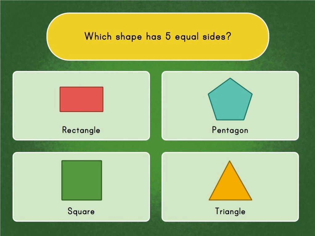 1st grade Math Games: Identifying Shapes By Attributes