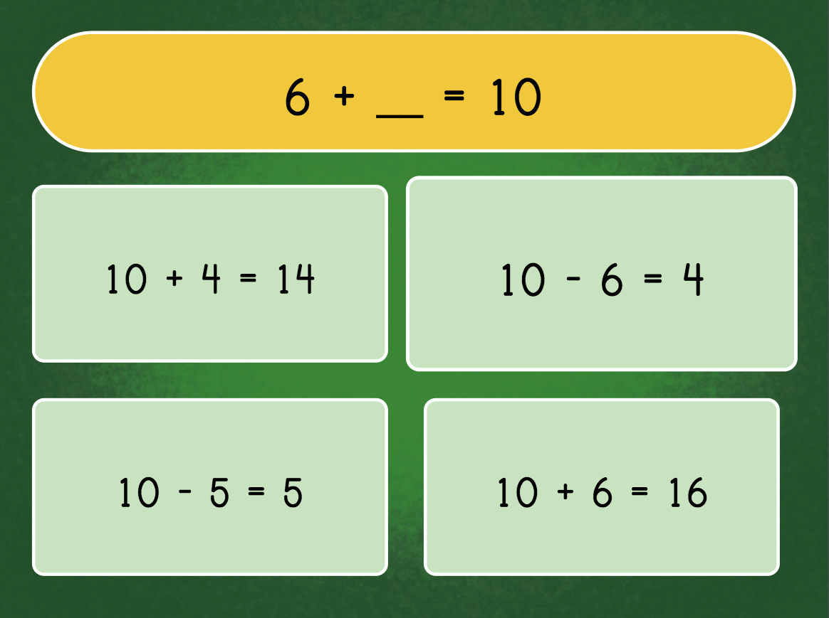 1st grade Math Games: Inverse Operations Quiz