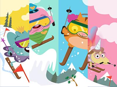 Ski Race: Irregular Plural Nouns