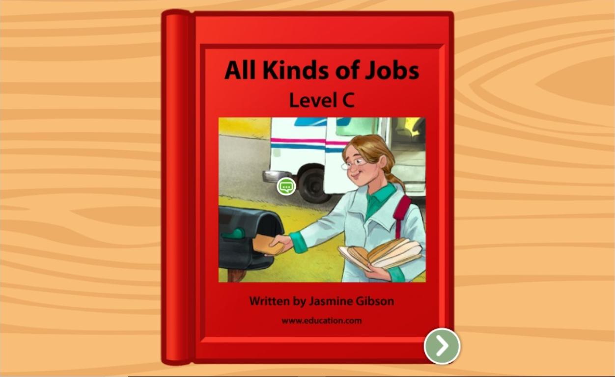 kindergarten Reading & Writing Stories: Jobs: Level C