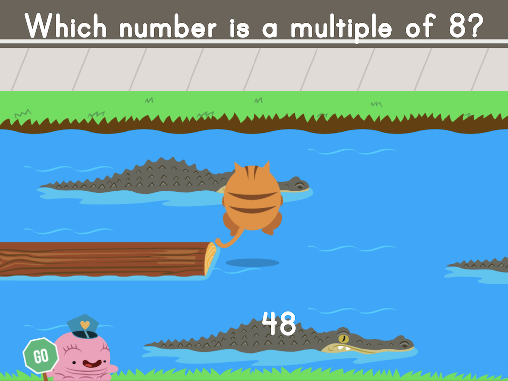 4th grade Math Games: Jumpy: Find the Multiples
