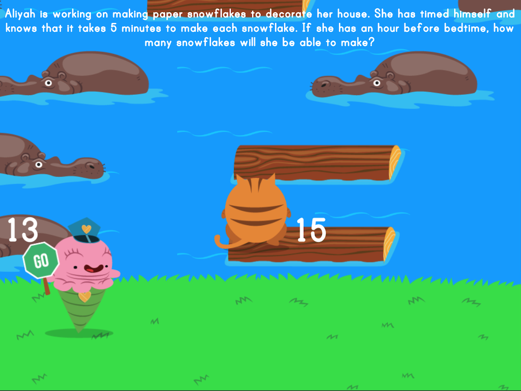 4th grade Math Games: Jumpy: Mixed Practice Word Problems (Game 1)