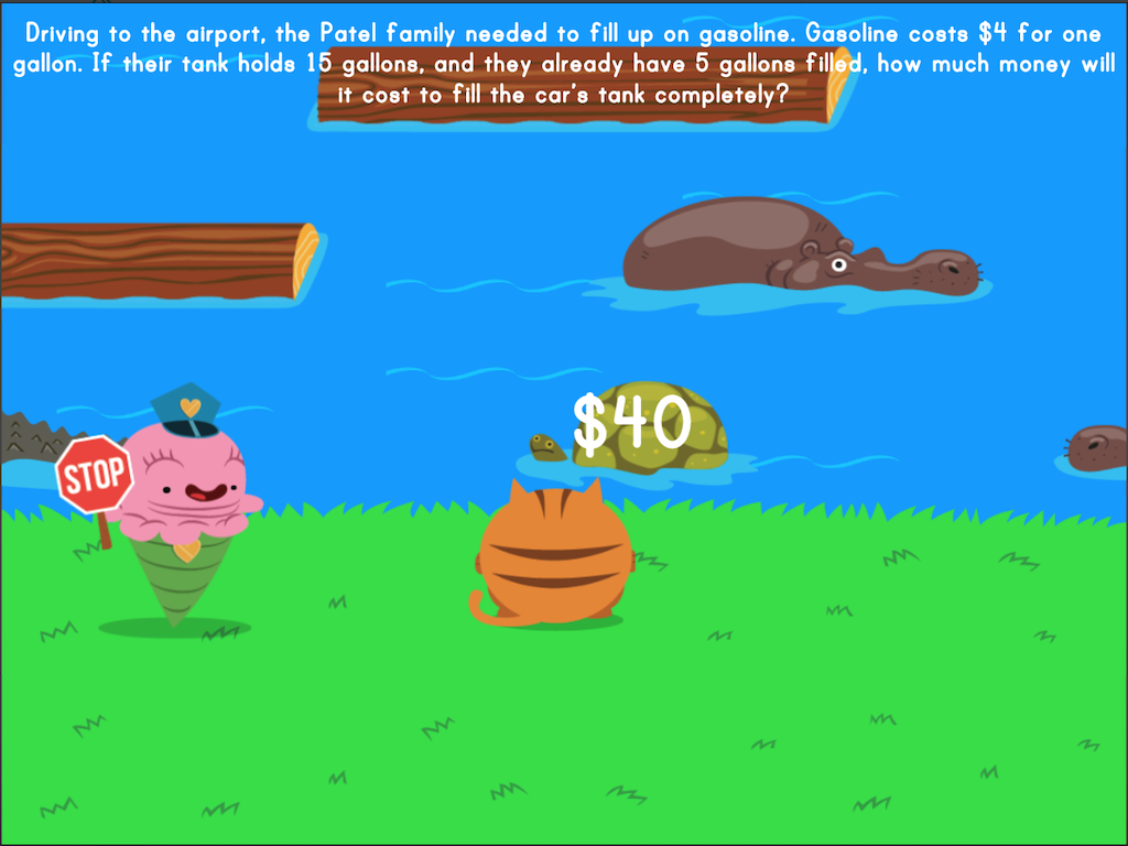 4th grade Math Games: Jumpy: Mixed Practice Word Problems (Game 2)