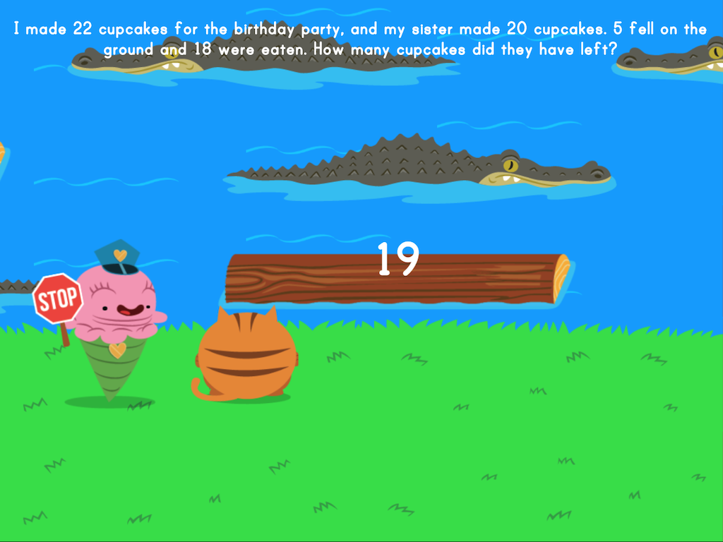 4th grade Math Games: Jumpy: Multi-Step Word Problems
