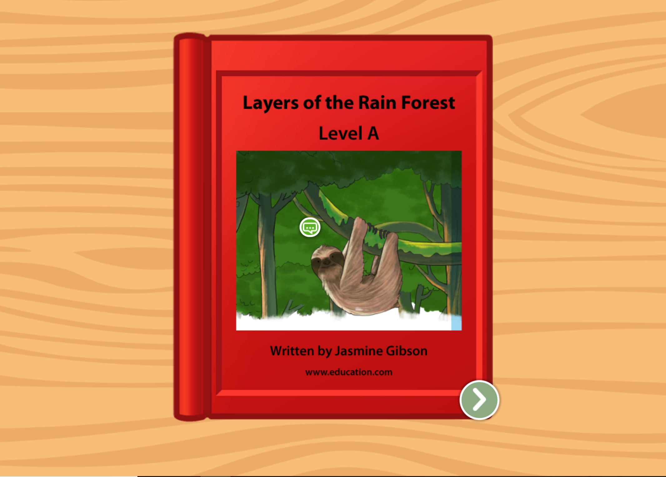 preschool Reading & Writing Stories: Layers of the Rain Forest: Level A
