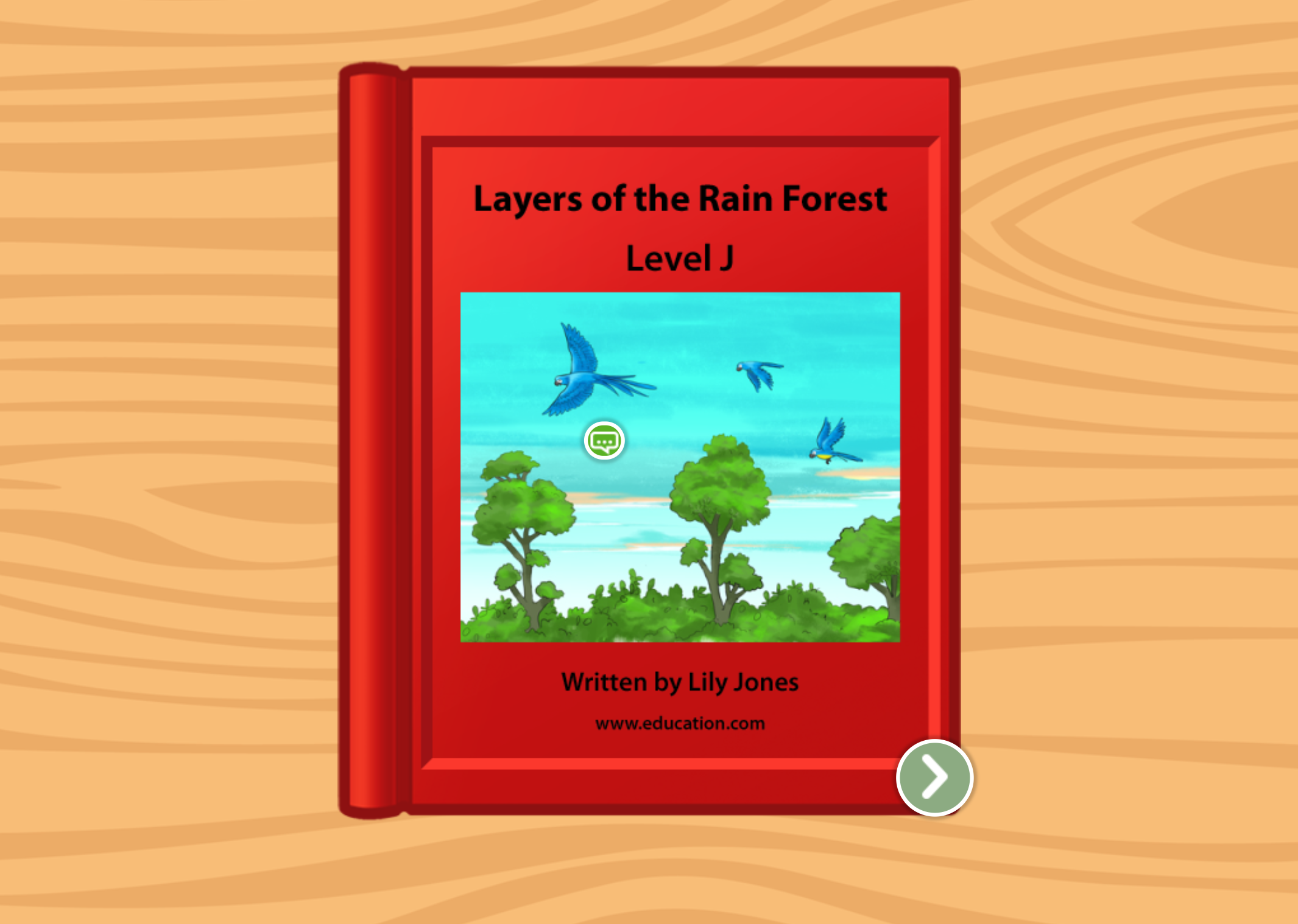 1st grade Reading & Writing Stories: Layers of the Rainforest: Level J