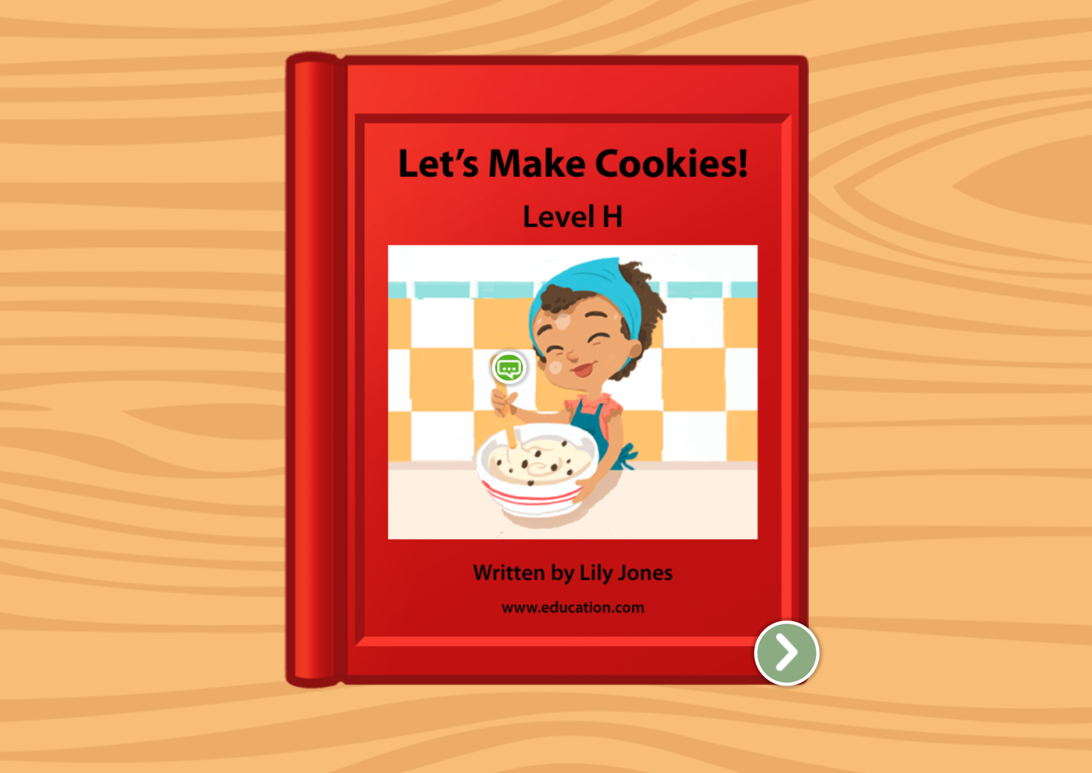1st grade Reading & Writing Stories: Let's Make Cookies: Level H