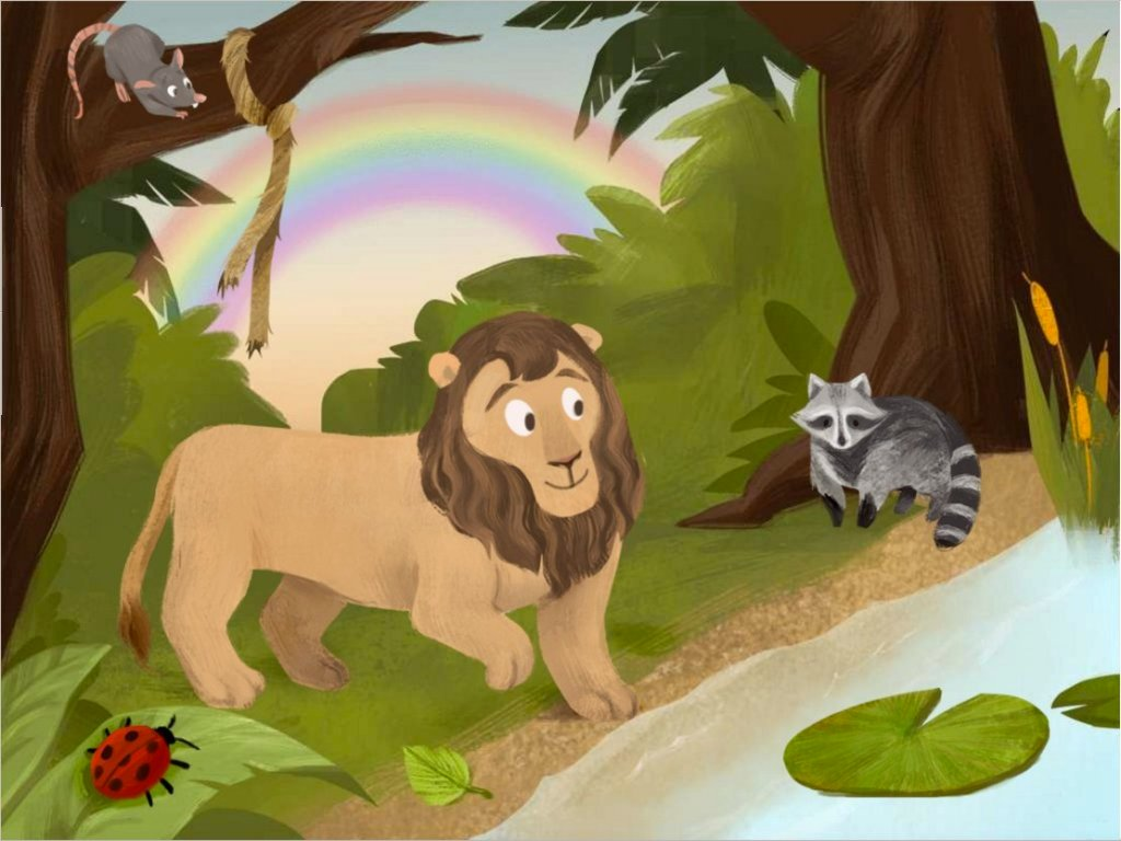 preschool Reading & Writing Stories: The Lion and the Rat Comprehension