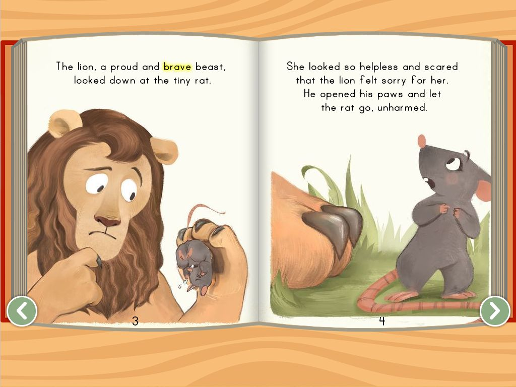 Preschool Reading & Writing Stories: The Lion and the Rat