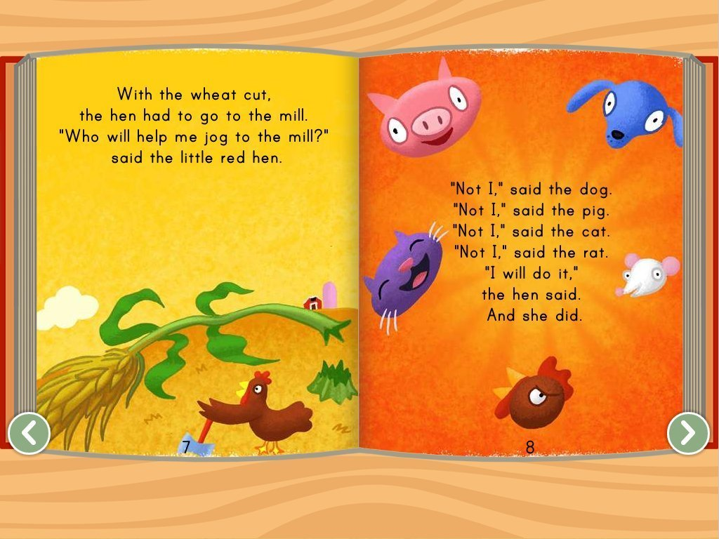 Kindergarten Reading & Writing Stories: The Little Red Hen