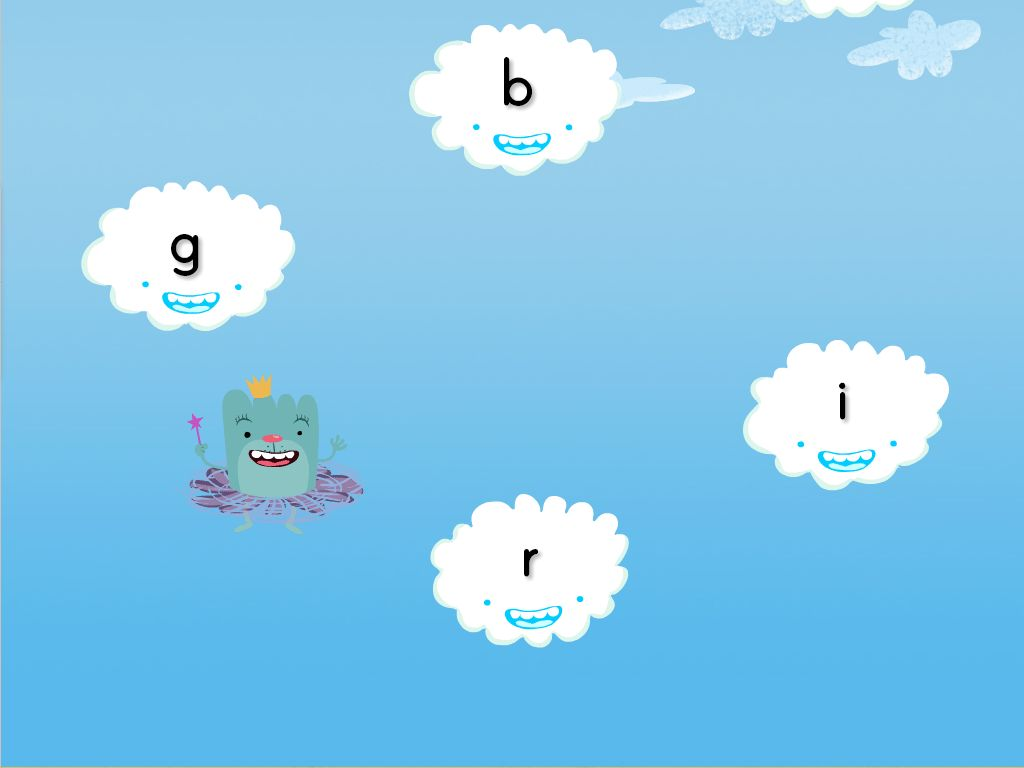 Lowercase Letters Cloud Catcher Game | Game | Education.com