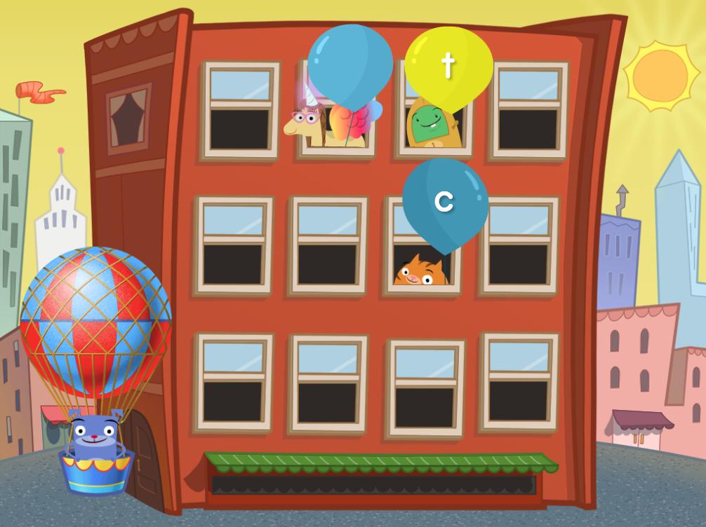 Kindergarten Reading & Writing Games: Lowercase Letter Balloon Pop