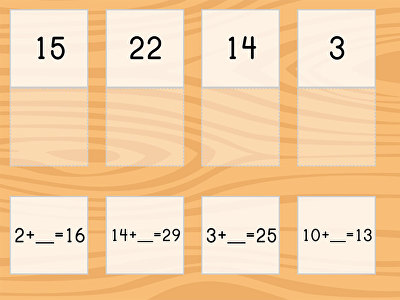 Match: Addition Within 30 and Missing Addends