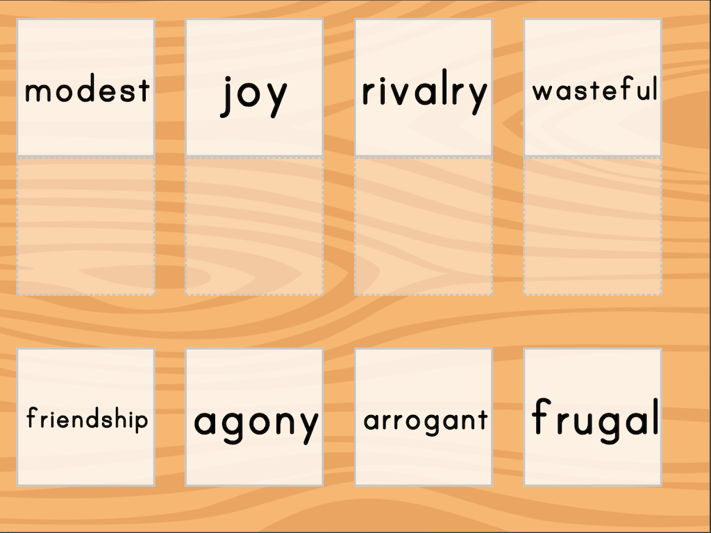 7th grade Reading & Writing Games: Match: Antonyms