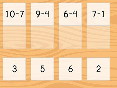 Match: Subtraction Facts within 10