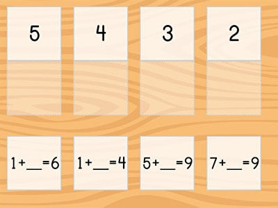 Match: Subtraction Within 10 and Missing Factors