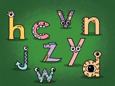 Monster Letters: NDHJCWVYZ