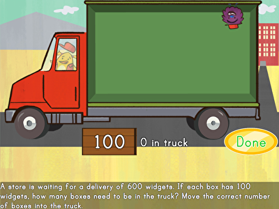 Multiplying by 100s: Moving Truck Multiplication