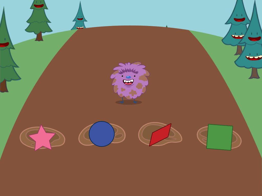 preschool Math Games: Shapes Hopper