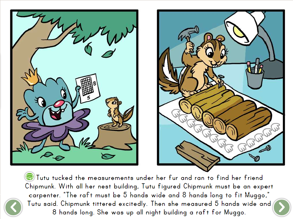 1st grade Math Stories: Muggo's Raft