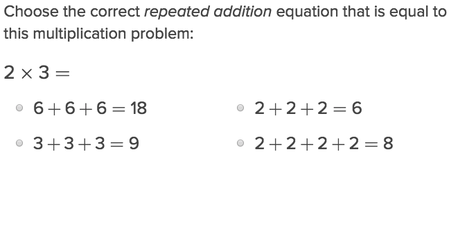 Multiplication and Repeated Addition