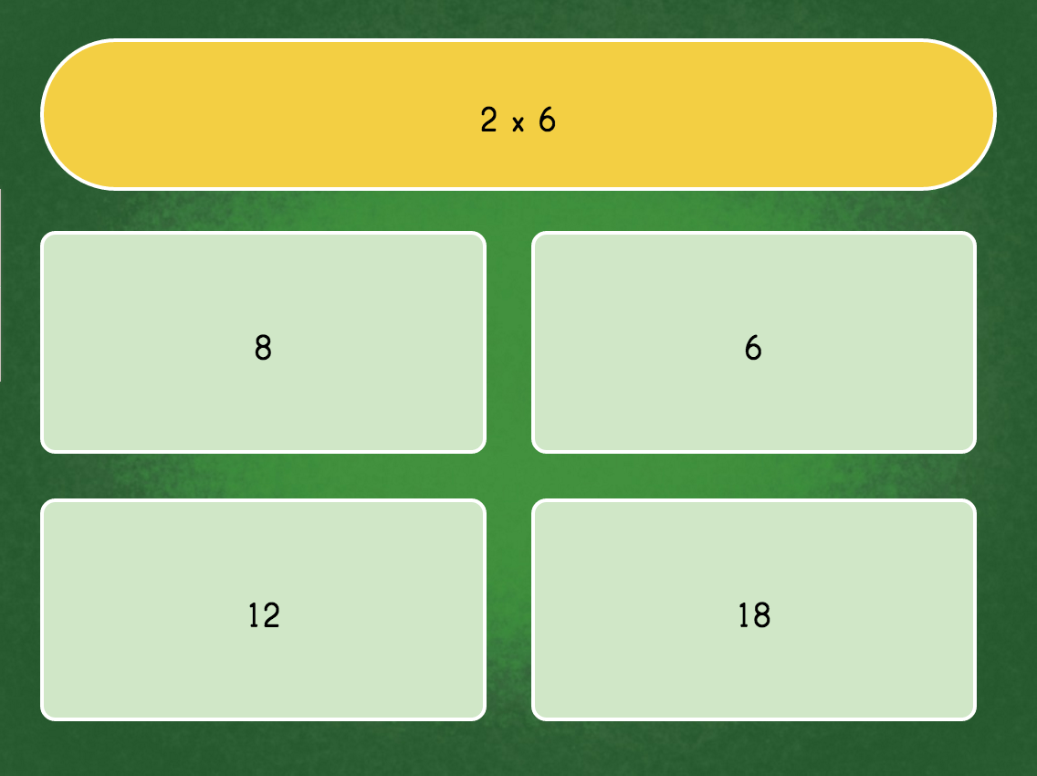3rd grade Math Games: Multiply by 6 Quiz