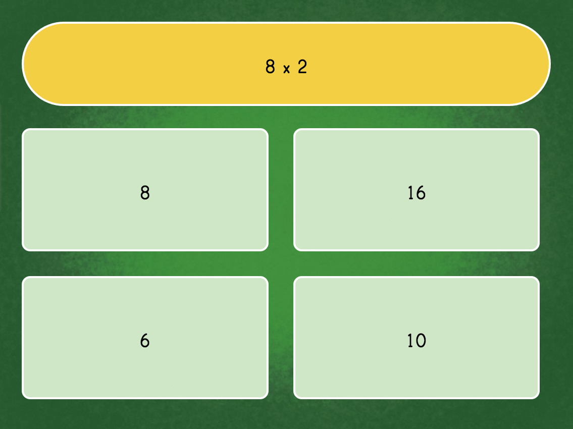 3rd grade Math Games: Multiply by 8 Quiz
