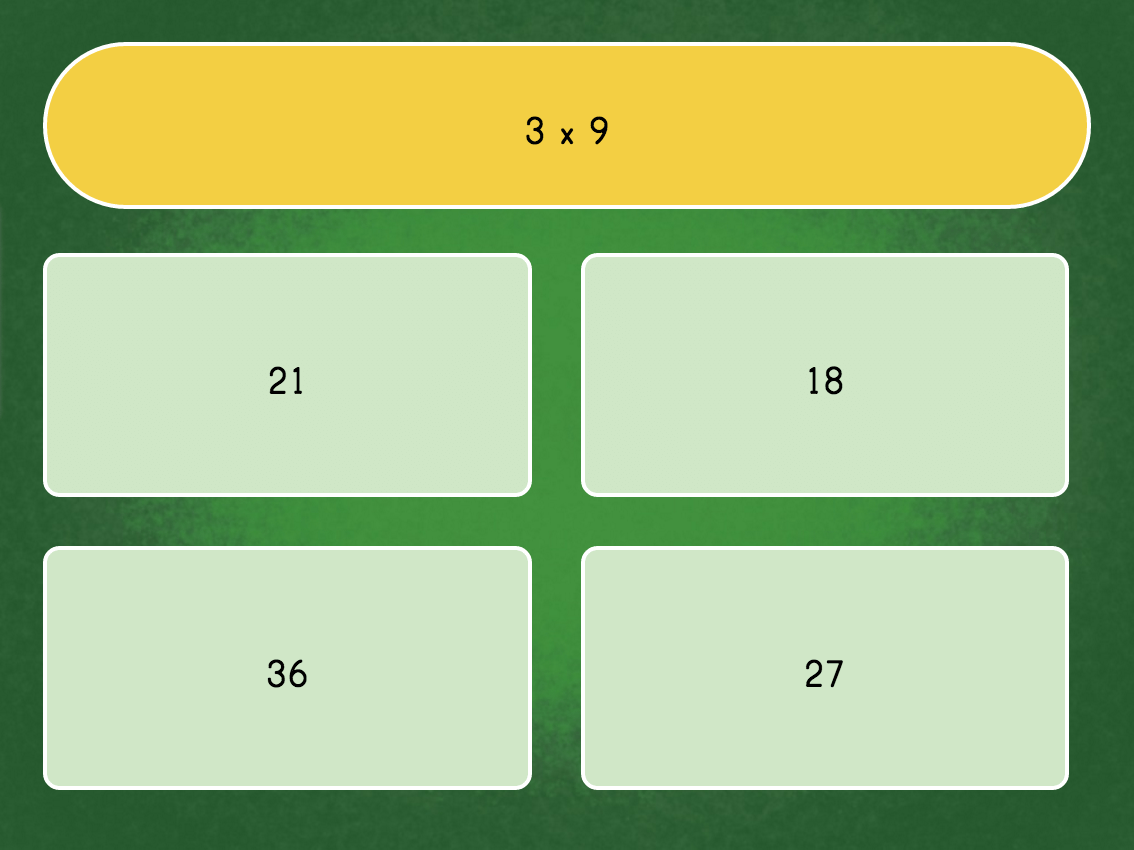3rd grade Math Games: Multiply by 9: Quiz
