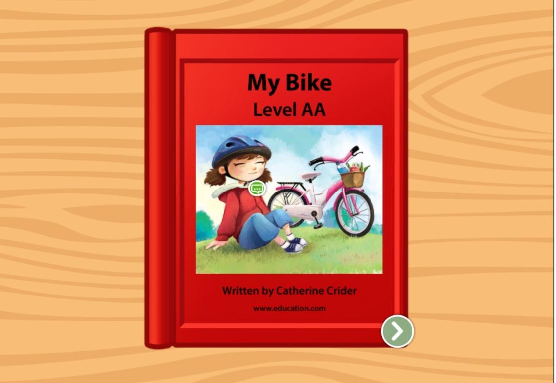 preschool Reading & Writing Stories: My Bike: Level AA