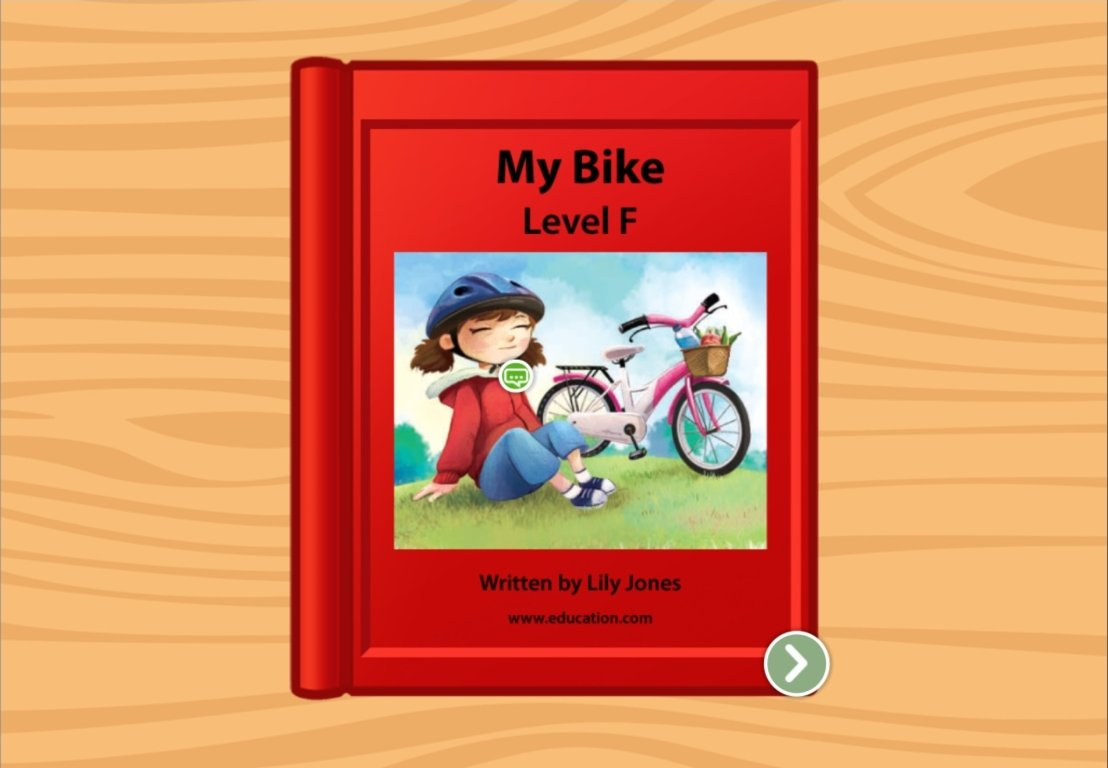 1st grade Reading & Writing Stories: My Bike Ride: Level F