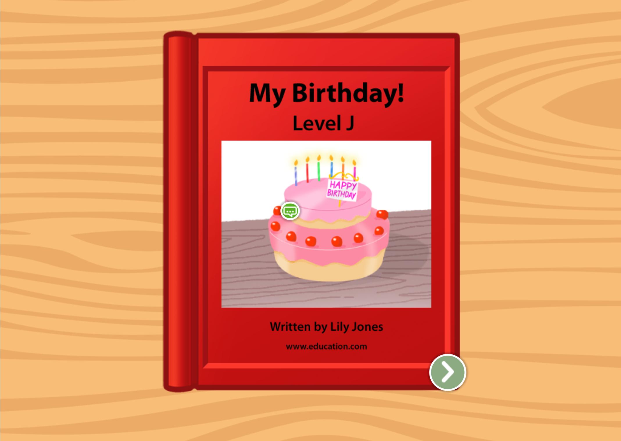 1st grade Reading & Writing Stories: My Birthday: Level J