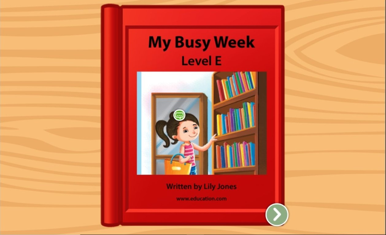 1st grade Reading & Writing Stories: My Busy Week: Level E