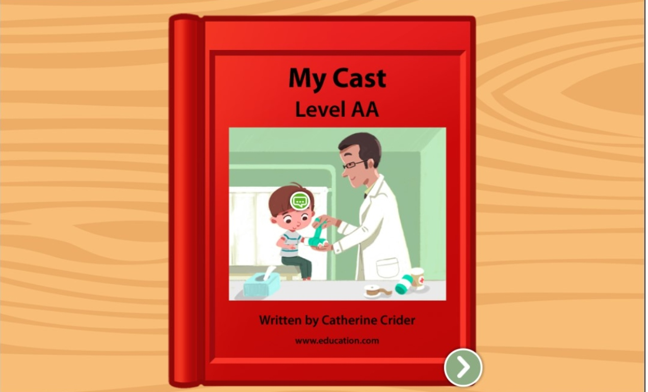 Preschool Reading & Writing Stories: My Cast: Level AA