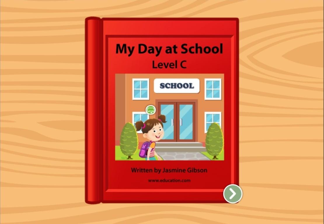 preschool Reading & Writing Stories: My Day At School: Level C