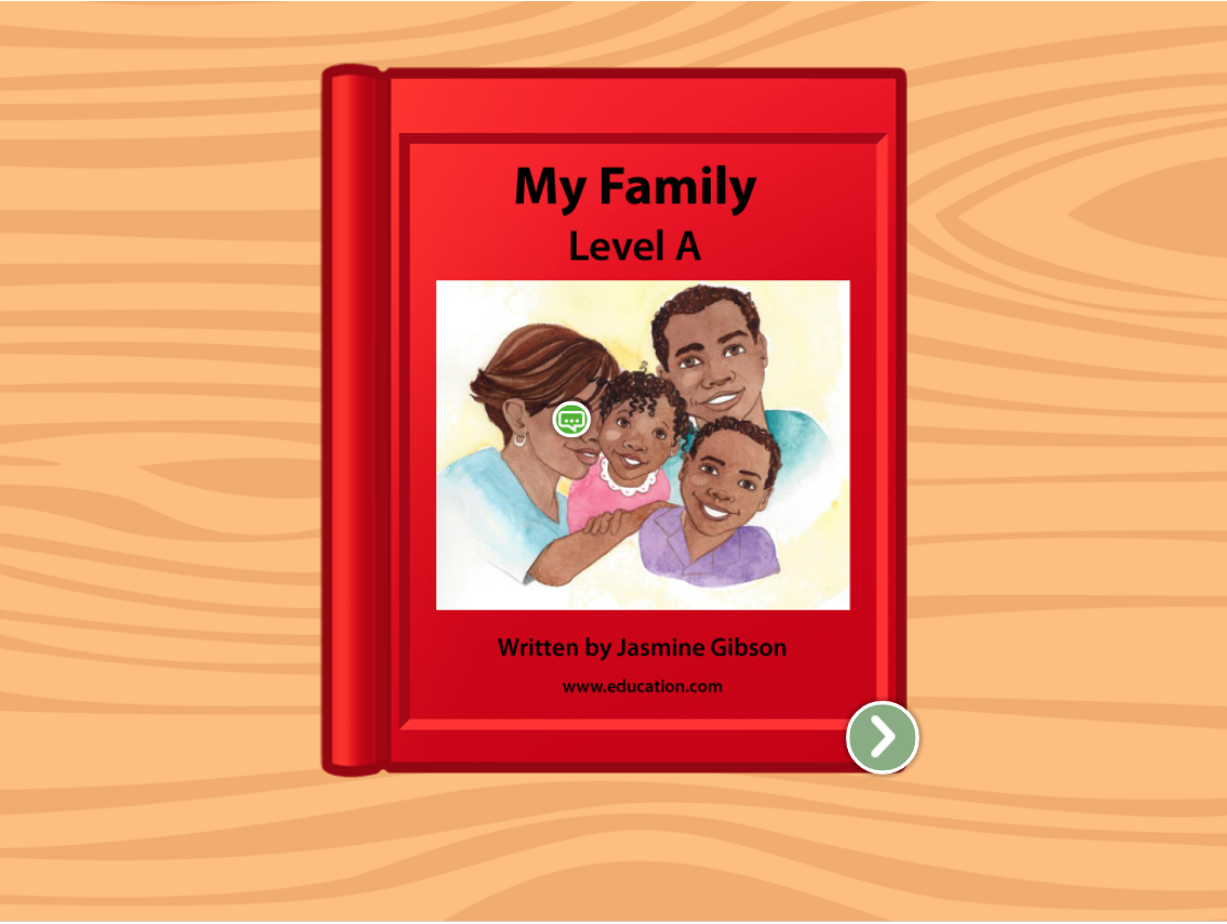 Preschool Reading & Writing Stories: My Family: Level A