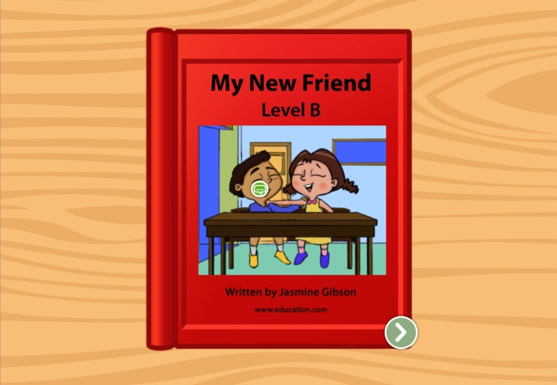 kindergarten Reading & Writing Stories: My New Friend: Level B