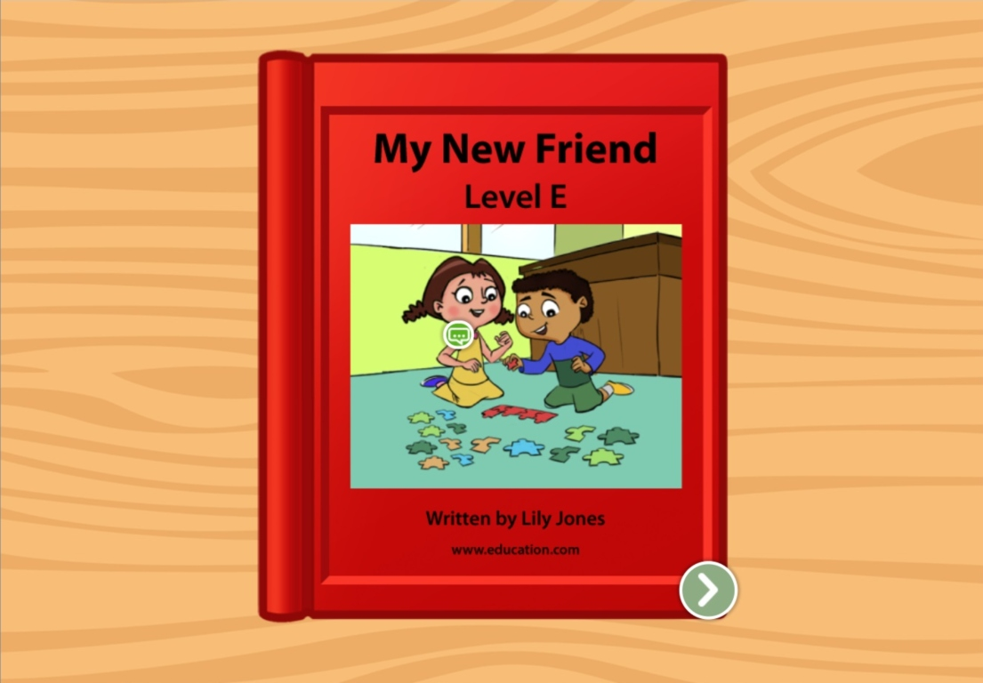 1st grade Reading & Writing Stories: My New Friend: Level E