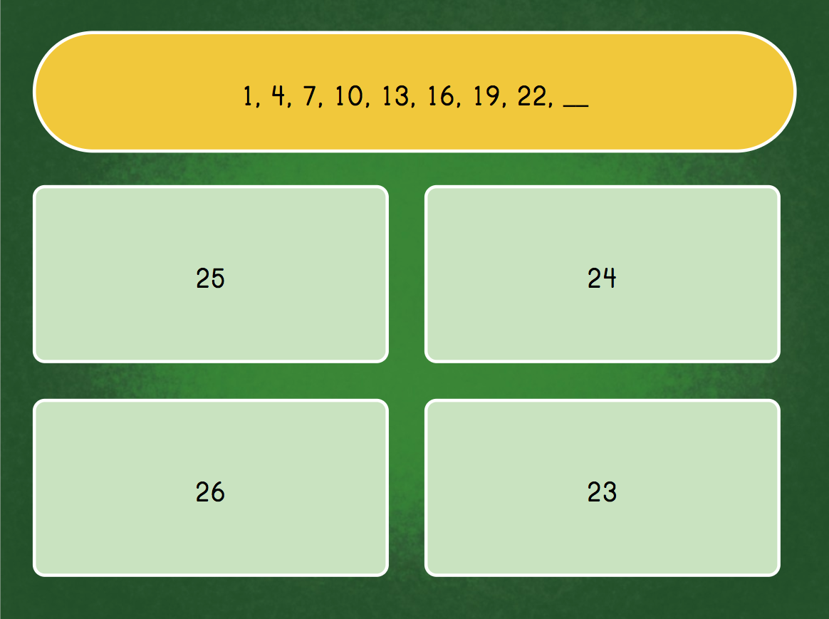 2nd grade Math Games: Solve the Number Pattern