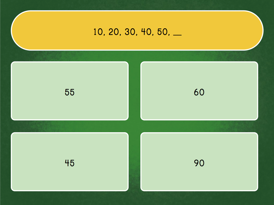 Number Patterns Quiz | Game | Education.com