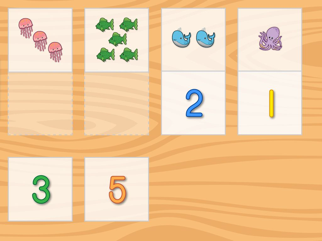 Number Pictures Matching Game Game Education Com