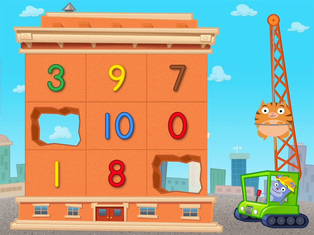 Preschool Math Games: Number Demolition: 1 to 10