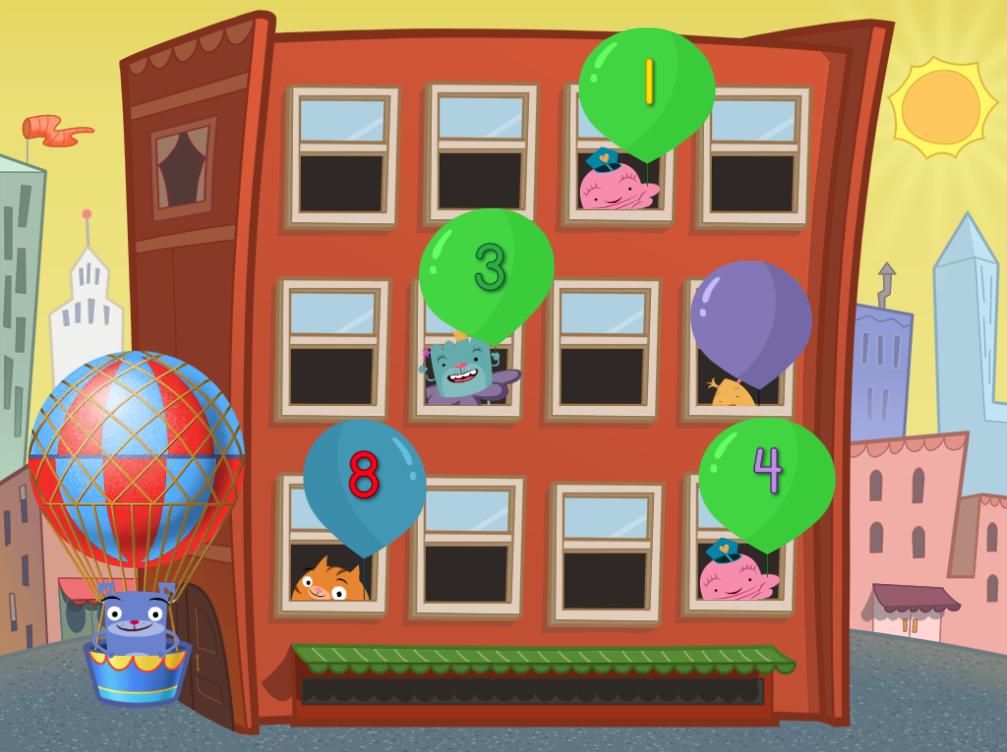 kindergarten Math Games: Numbers 1 to 10 Balloon Pop