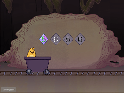 Typing Numbers: 5 and 6 with Gem Miner