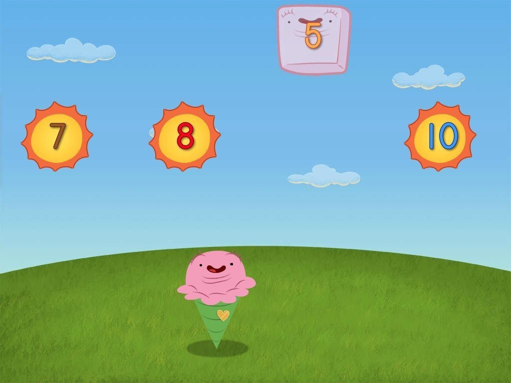 Preschool Math Games: Numbers Ice Cream Attack