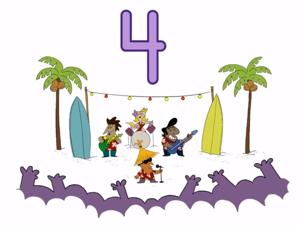 Preschool Math Songs: Counting Song: Surf Rock!
